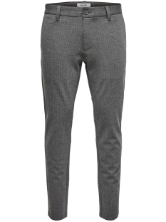 Only & Sons Broek ONSMARK PANT STRIPE GW 3727 NOOS 22013727 Medium Grey Melange