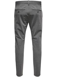 onsmark pant stripe gw 3727 noos 22013727 only & sons broek medium grey melange