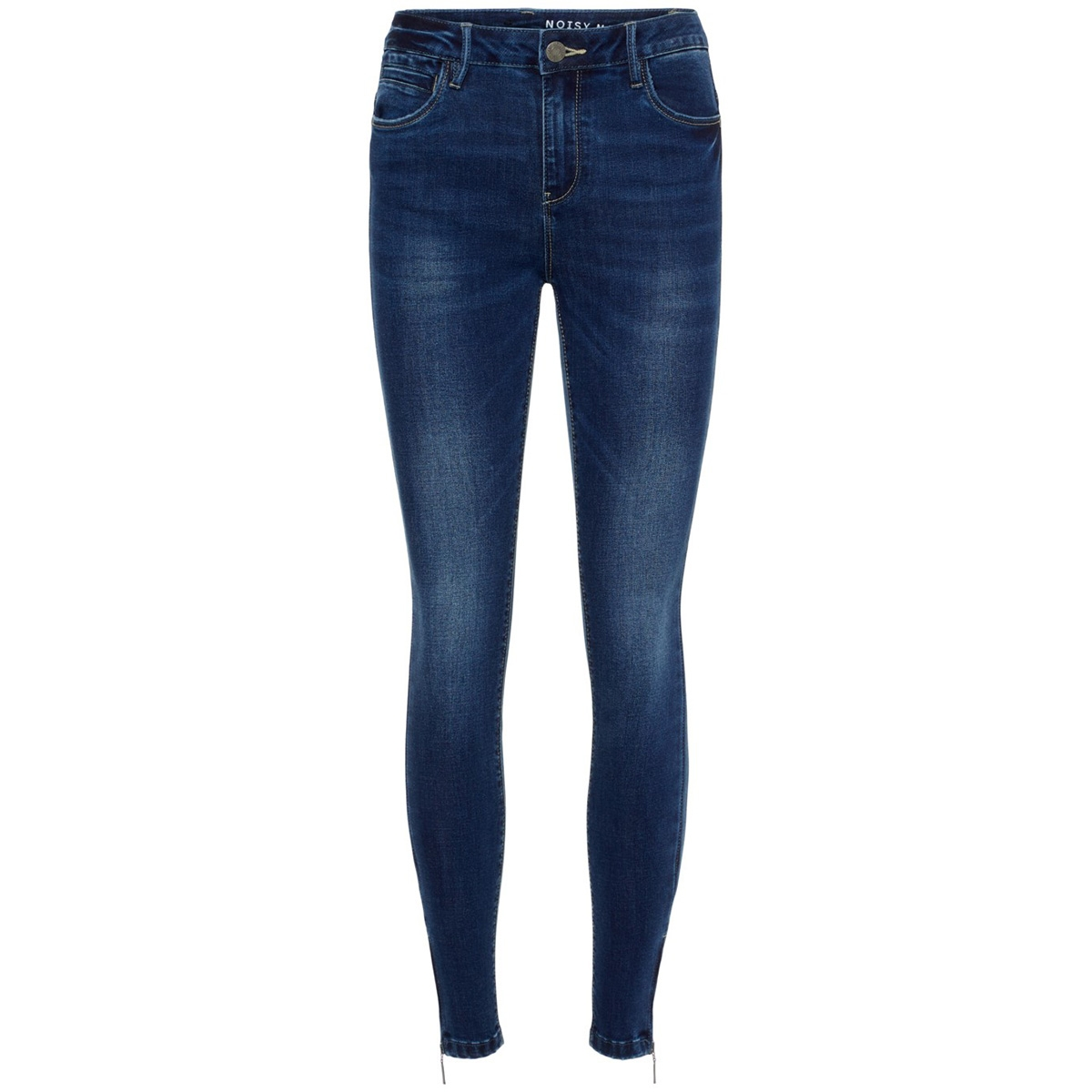 nmkimmy nw ankle zip jeans jt060db 27008917 noisy may jeans dark blue denim