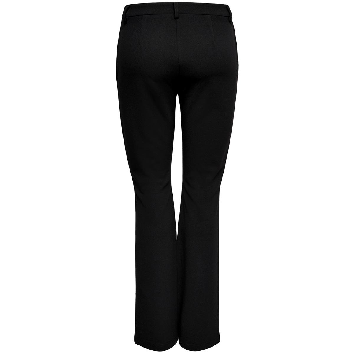 onlrocky mid flared pant pnt noos 15171664 only broek black