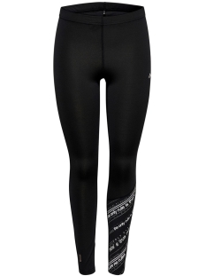 Only Play Sport broek ONPJENNIFER AOP TRAINING TIGHTS 15175602 Black/W. WHITE &