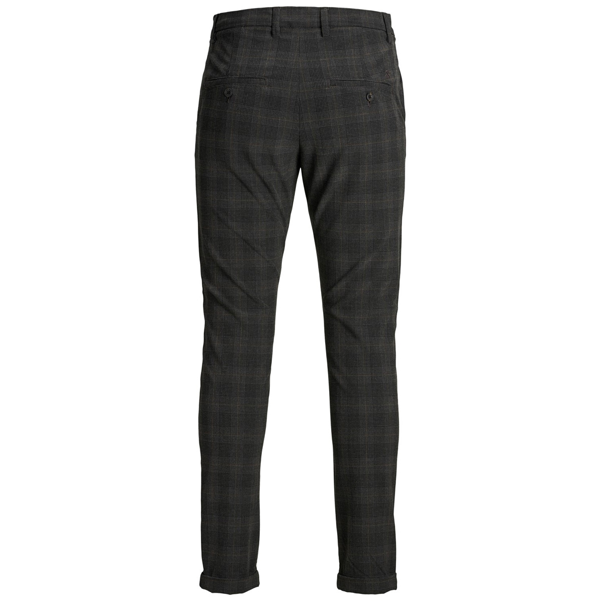 jjimarco jjconnor akm773 dg check n 12160583 jack & jones broek dark grey