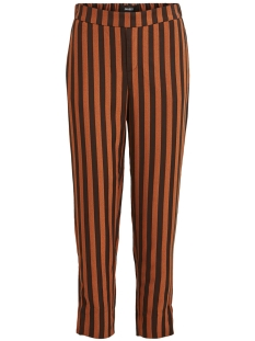 Object Broek OBJGIN SIRINGO PANT 105 23030533 Black/BROWN PATIN
