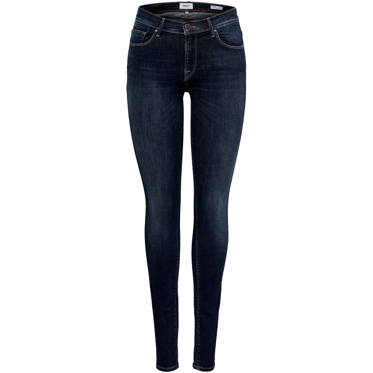 onlshape reg sk dnm jeans rea9820 noos 15180740 only jeans dark blue denim