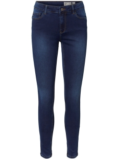 vmseven mr s shape up j vi342 noos 10217514 vero moda jeans dark blue denim/tobacco st