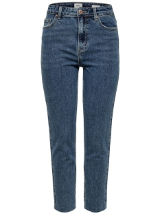 Only Jeans ONLEMILY HW ST RAW CRP ANK MAE 0005 15171549 Dark Blue Denim