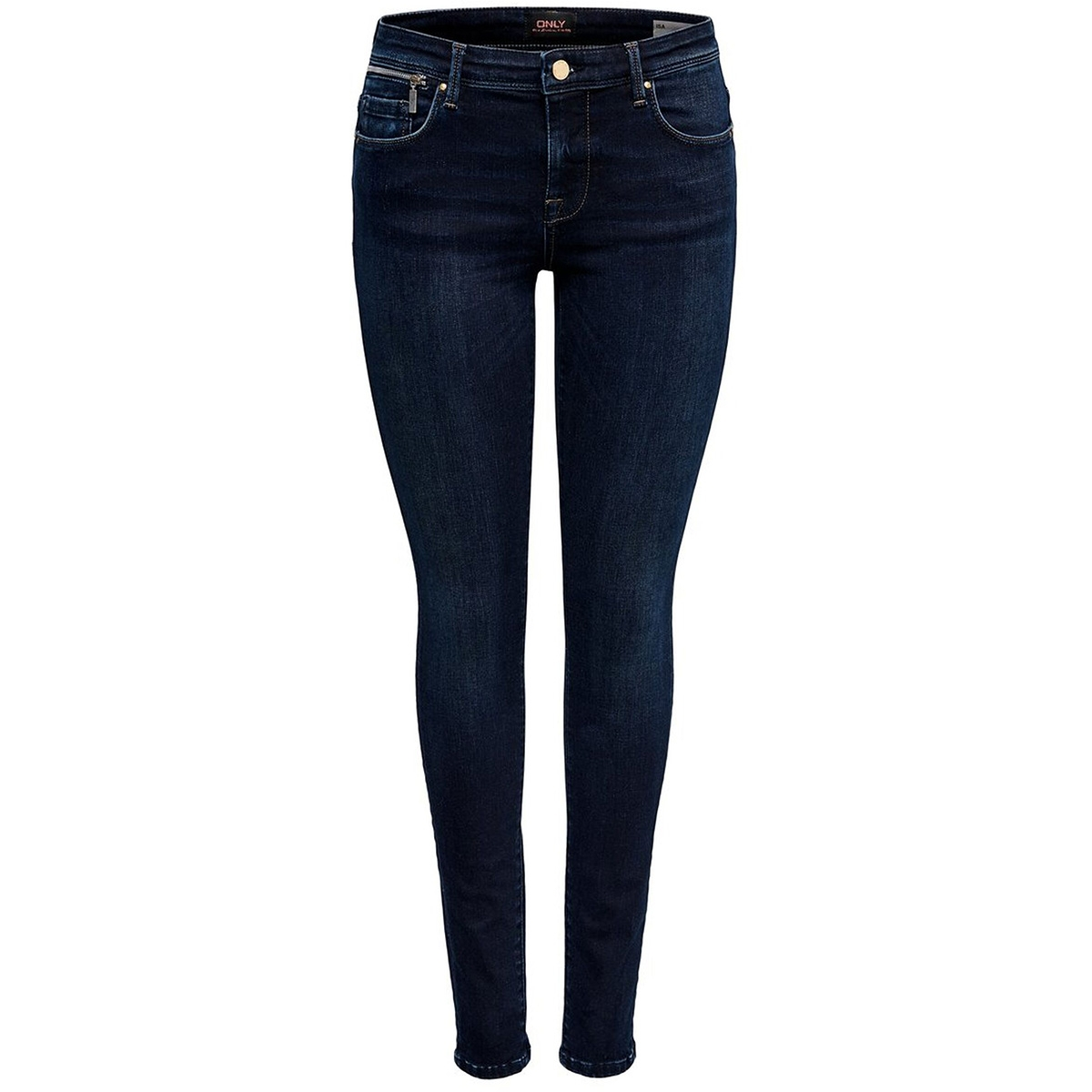 onlisa reg sk zip jeans bb rea10098 15182895 only jeans dark blue denim