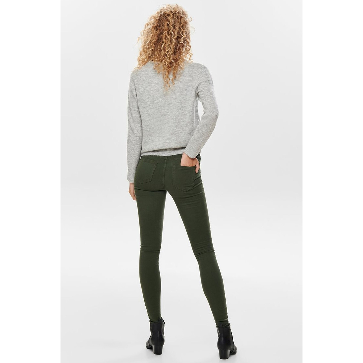 onlblush mid sk col jeans noos 15185418 only jeans forest night