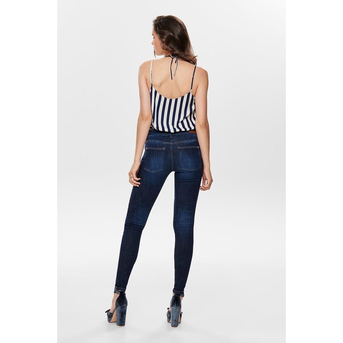 jdyknight skinny reg dark blue dnm 15182662 jacqueline de yong jeans dark blue denim