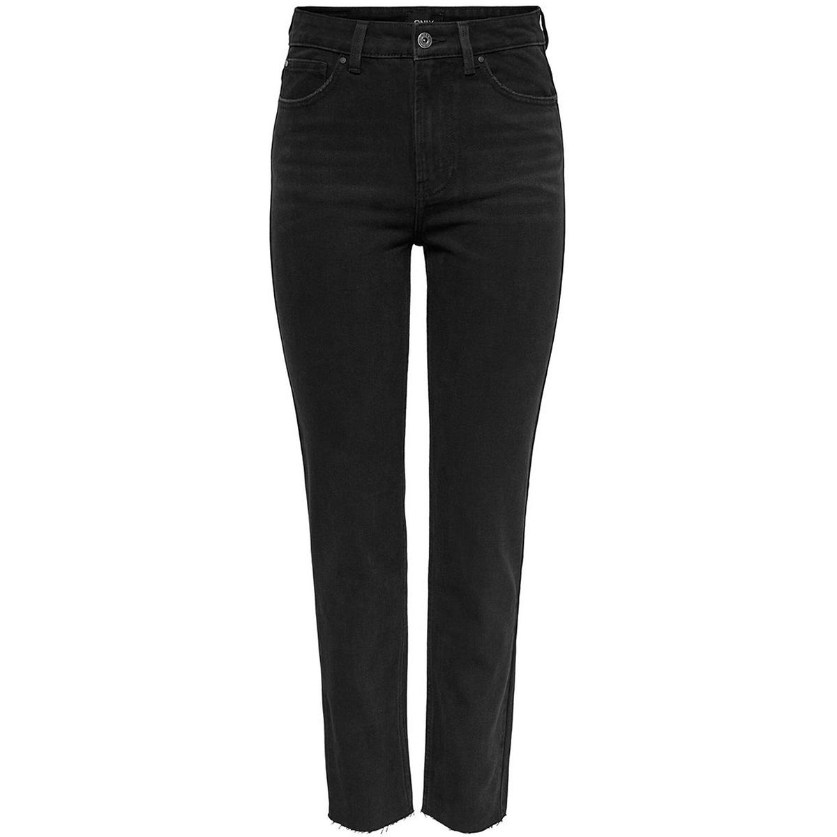 onlemily  hw st raw jnsblack mae004 15171545 only jeans black denim
