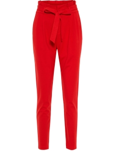Vero Moda Broek VMEVA HR LOOSE PAPERBAG PANT COLOR 10210499 Chinese Red