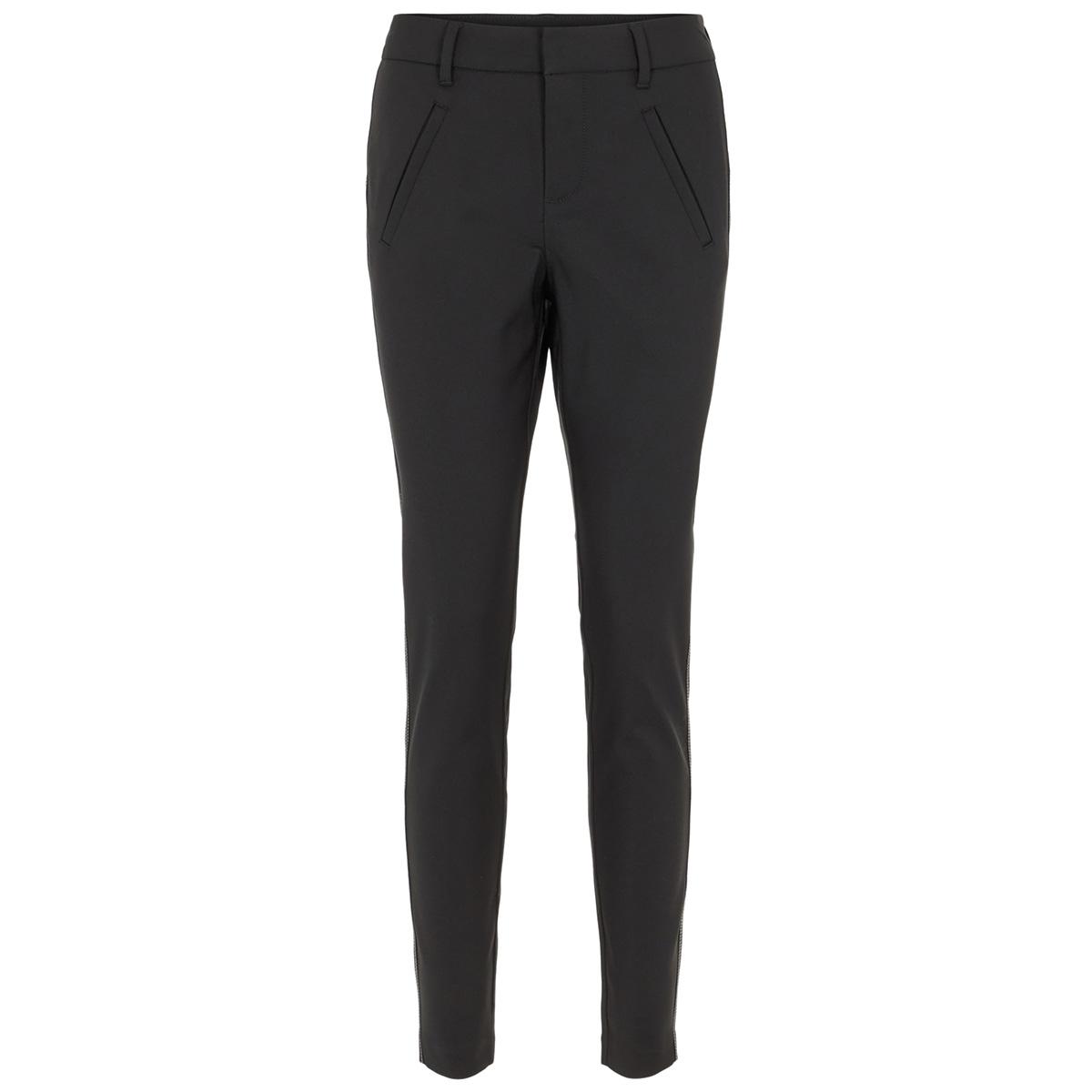 vmvictoria mr contrast ankle pant c 10217609 vero moda broek black/birch stitch