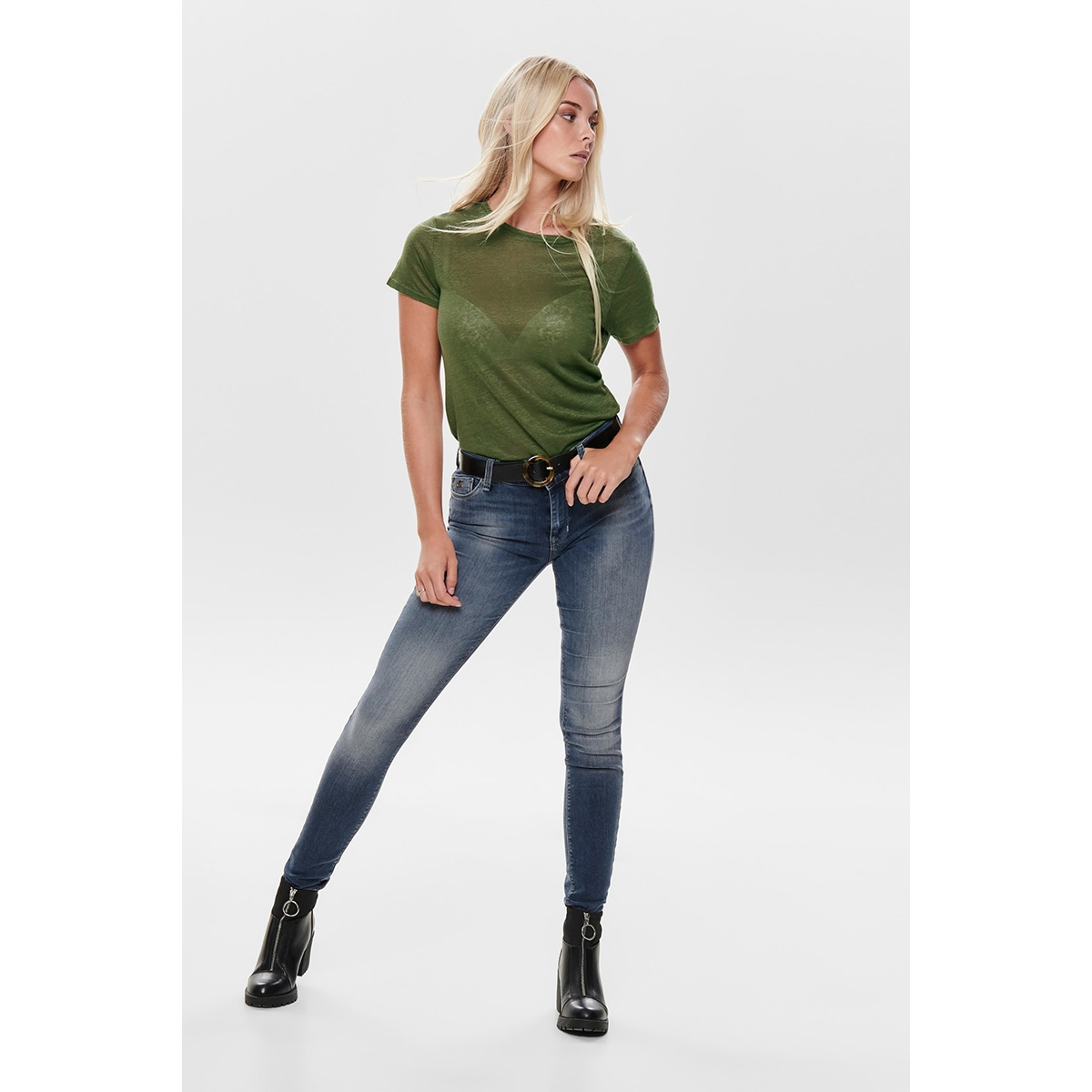 onlisa reg sk jeans bb rim19433 15182814 only jeans dark blue denim