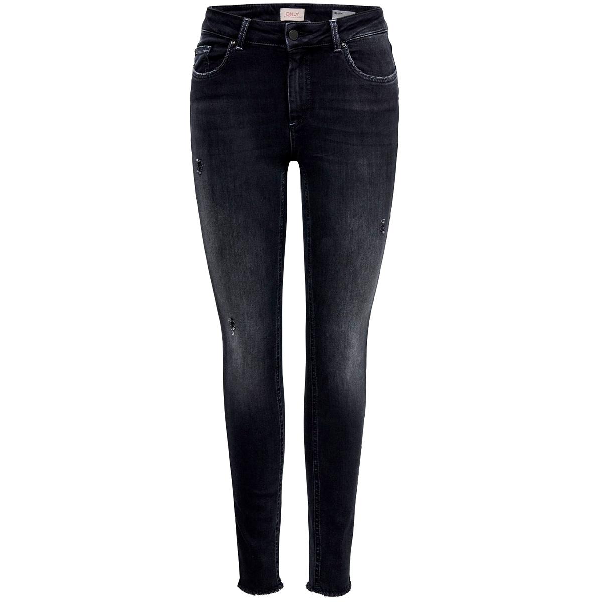 onlblush mid sk ank raw bb rea5178 15182472 only jeans black denim