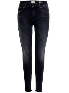 Only Jeans ONLBLUSH MID SK ANK RAW BB REA5178 15182472 Black Denim