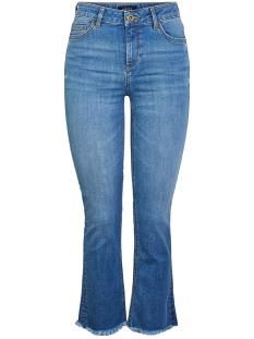 Pieces Jeans PCDELLY MW KICK FLARED RAW HEM MB253-BA 17103480 Medium Blue Denim