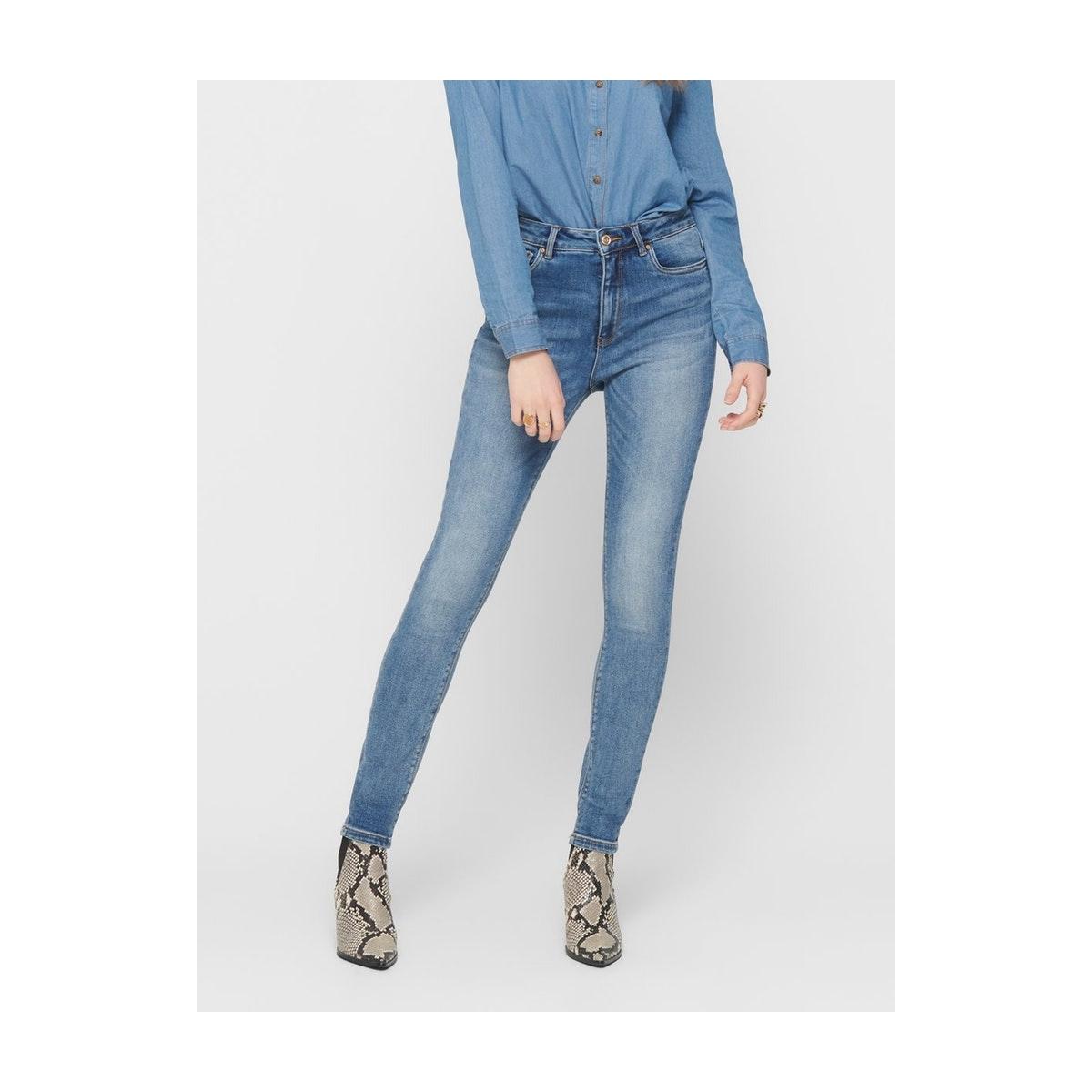 onlmila hw sk ank  bb jeans bj13994 15181934 only jeans medium blue denim