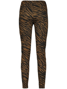 pcibrea mw jacquard leggings 17100425 pieces legging black/brown zebra