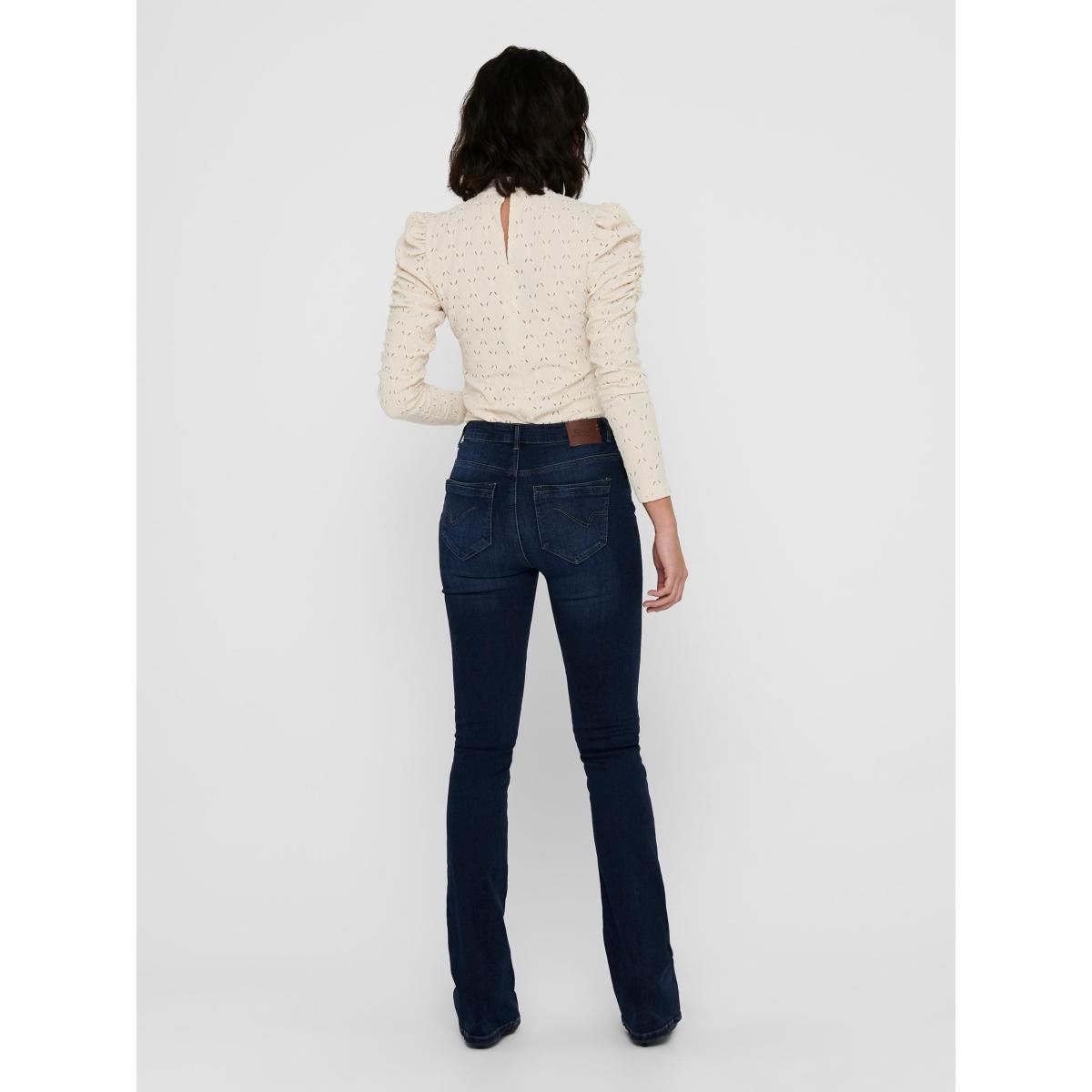 onlpaola hw flared bb jns azgz878 n 15170664 only jeans dark blue denim