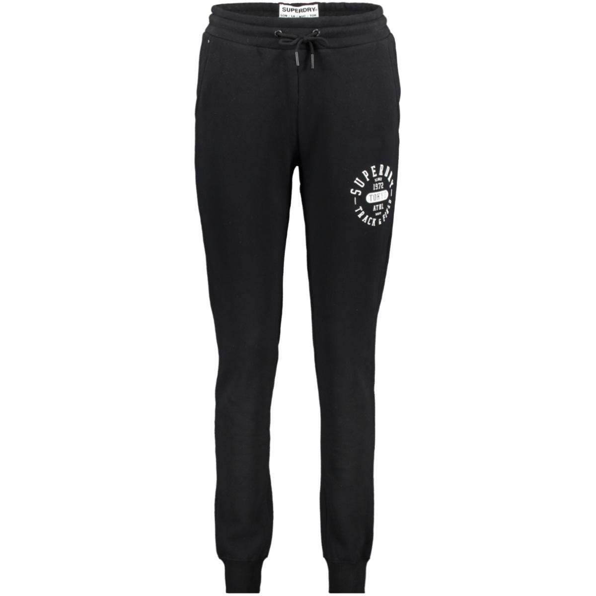 track & field jogger w7000027a superdry broek black