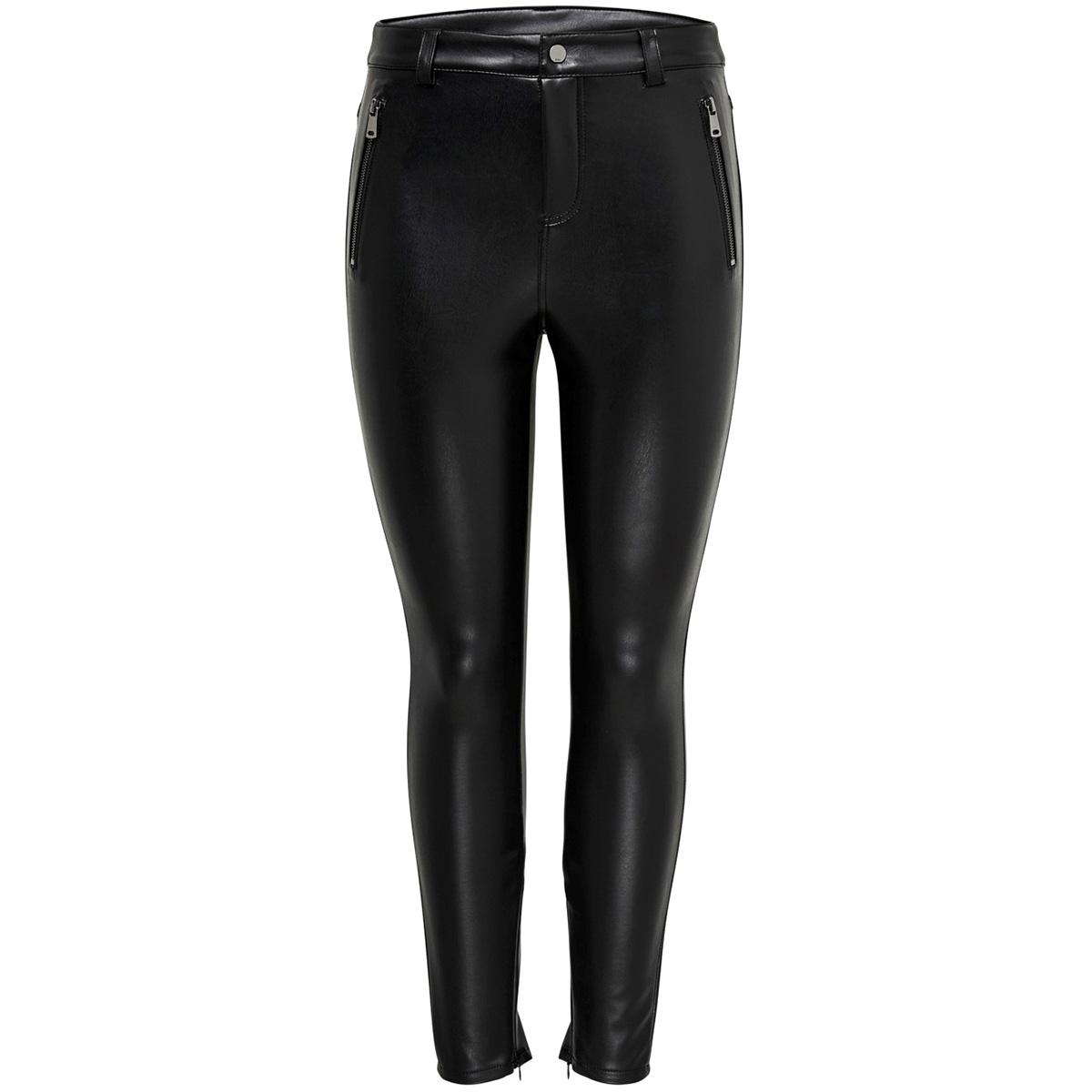 onlolive faux leather crop pant reg 15184909 only broek black
