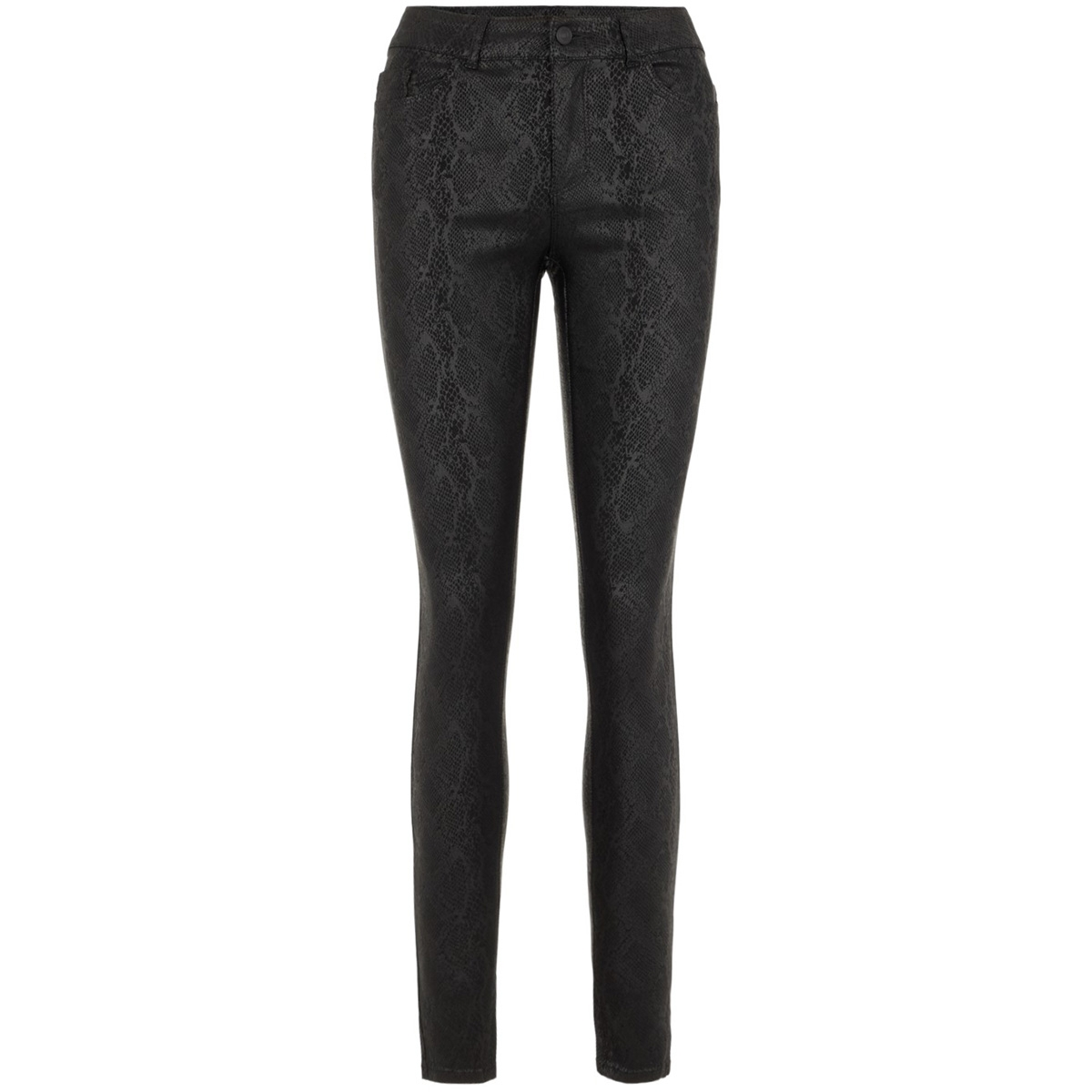 vmseven mr s smooth coat snake pant 10222950 vero moda broek black/coated snake