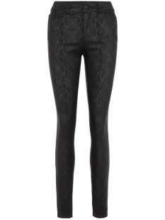 Vero Moda Broek VMSEVEN MR S SMOOTH COAT SNAKE PANT 10222950 Black/COATED SNAKE
