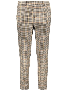 Object Broek OBJLISA SLIM PANT SEASONAL 23030466 Brown Patina/CHECKS
