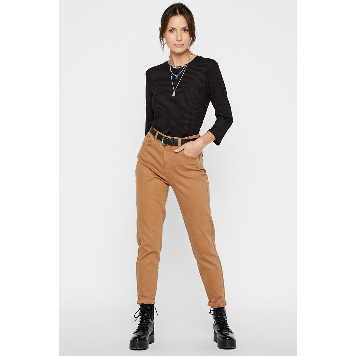 pcleah mom hw ank colour jeans-ba 17101783 pieces jeans toasted coconut