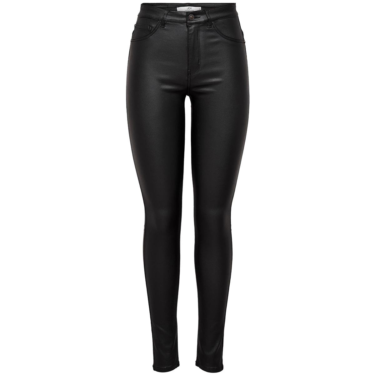 jdythunder skinny high coated pnt n 15192576 jacqueline de yong broek black