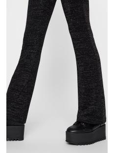 pcjamie mw flared pants 17099810 pieces broek black/silver lurex