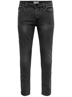 onsloom slim sw black  pk 4873 noos 22014873 only & sons jeans black denim