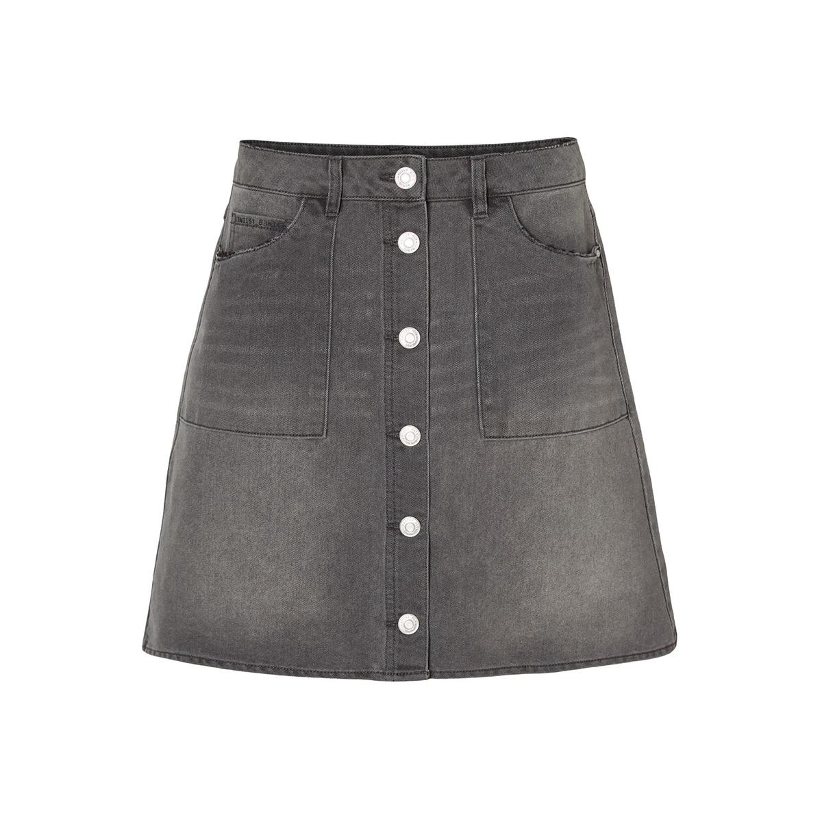 nmdebbie nw short dnm skirt jt070dg 27009772 noisy may rok dark grey denim