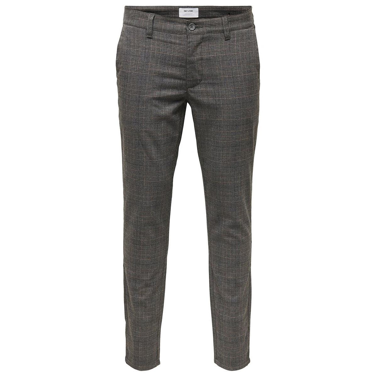 onsmark check pant gw 4198 22014198 only & sons broek medium grey melange
