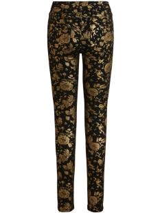 vicommit rwsl new printed jeans 14056443 vila jeans black/gold flowers