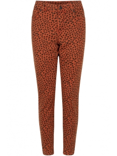 Zoso Jeans 195FAITH ALLOVER PRINTED TROUSER BURNT ORANGE/BLACK