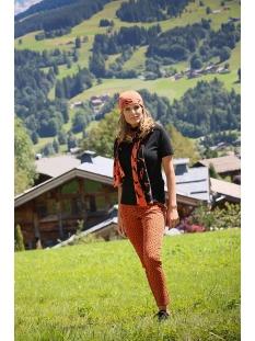 195faith allover printed trouser zoso jeans burnt orange/black