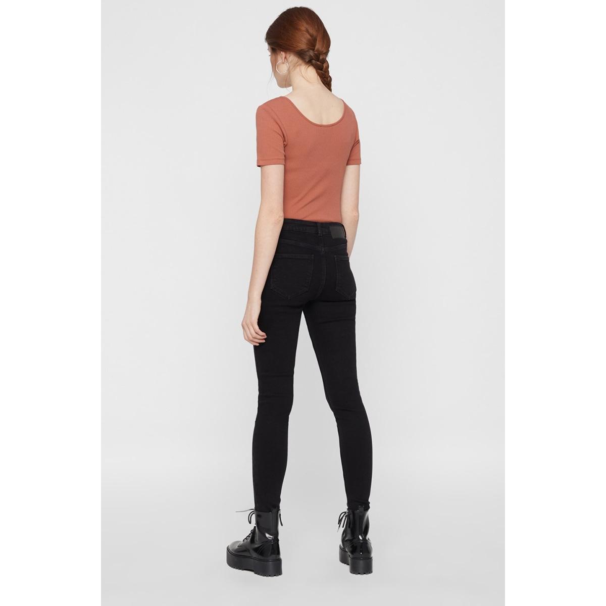 pckamelia skn mw ankle  bl641-vi/no 17102094 pieces jeans black denim
