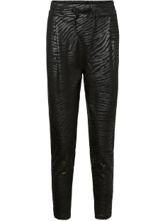 Vero Moda Broek VMEVA MR LOOSE STRING ZEBRA COATING 10222823 Black