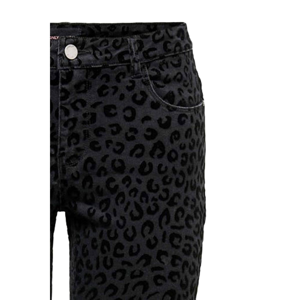 onycarmen ankle flock leo dnm jeans 15190755 only jeans black