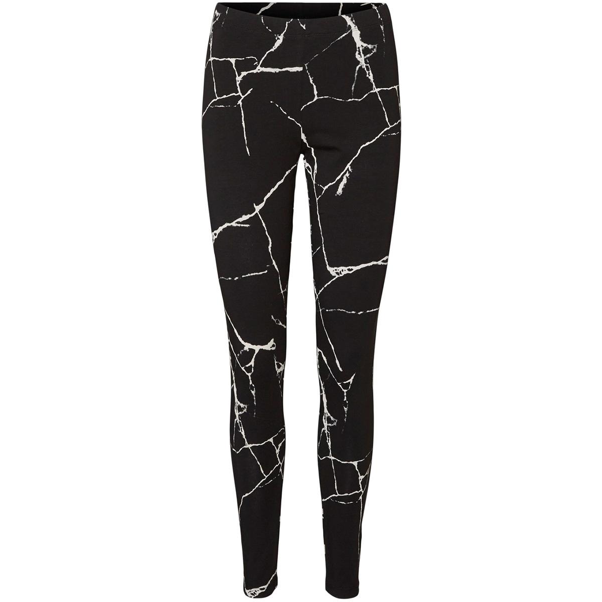 nmkerry nw aop marble legging 27012262 noisy may legging black/black&whi