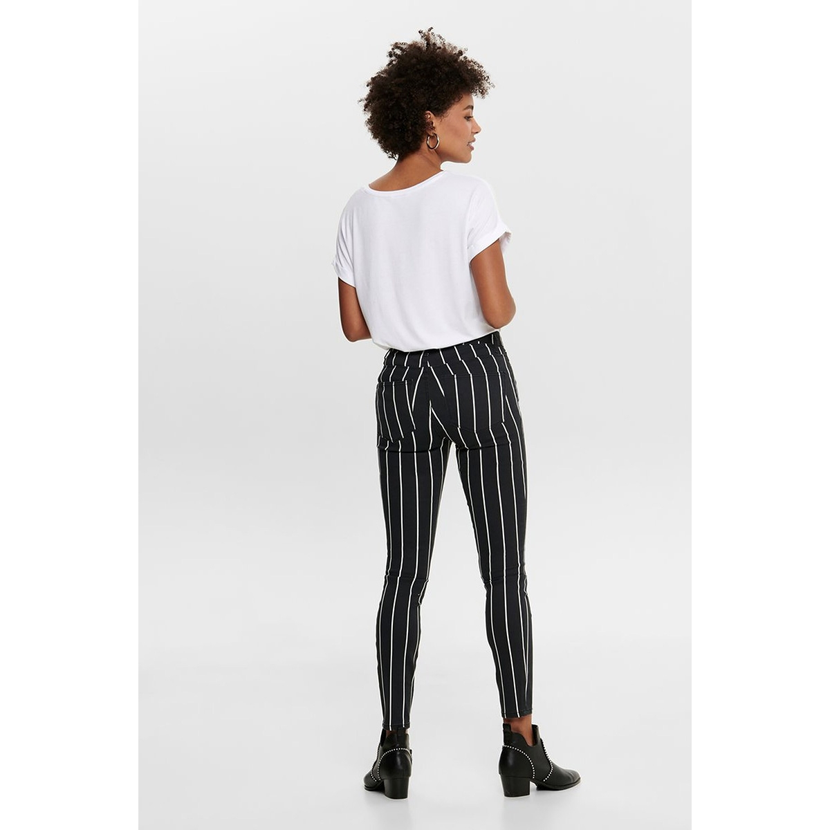 onlnine-ester life mw ank pants cc 15191442 only broek black/cloud dancer