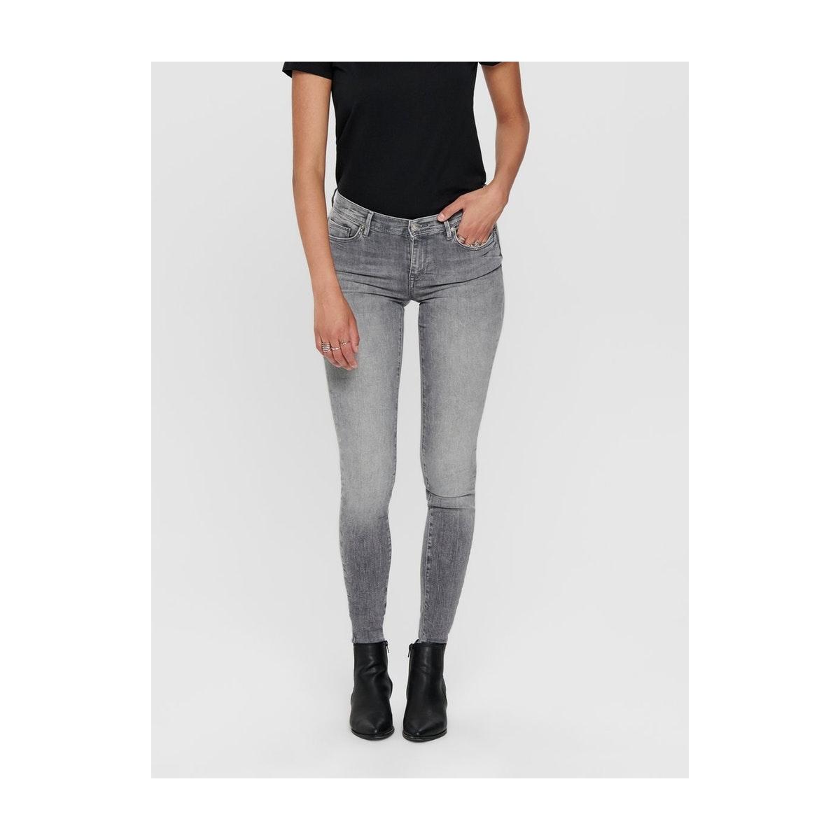 onlshape life reg sk dnm rea4732 noos 15181869 only jeans grey denim