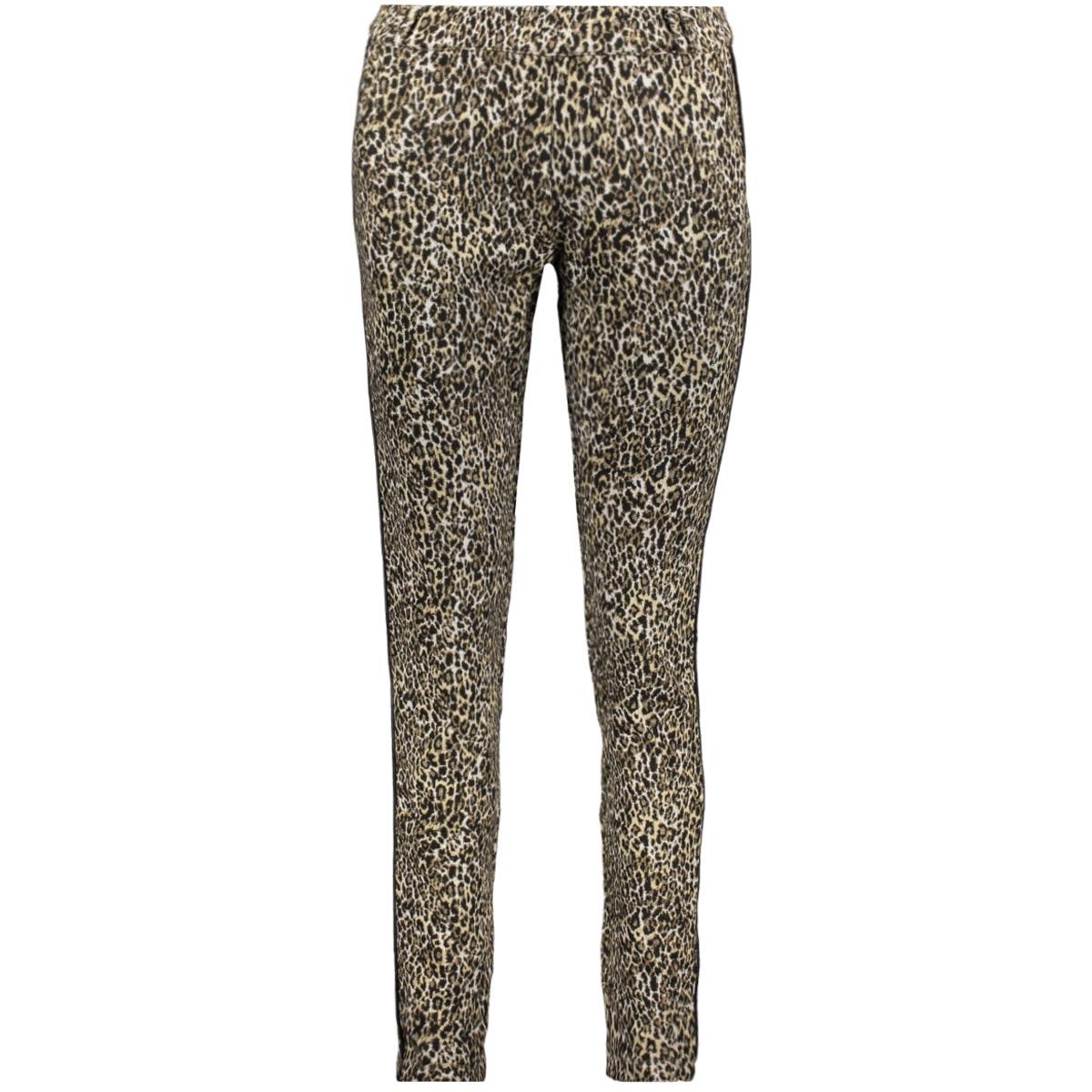 pants jaquard leopard 91556 24 geisha broek sand combi