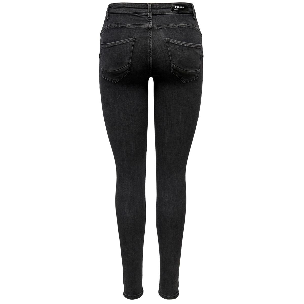 onlpower mid push up sk jea rea3722 noos 15169896 only jeans medium grey denim