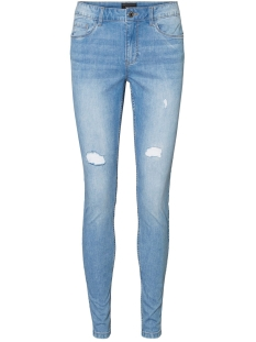 Vero Moda Jeans VMSEVEN MR S SHAPE UP DSTR VI353 NO 10225492 Light Blue Denim