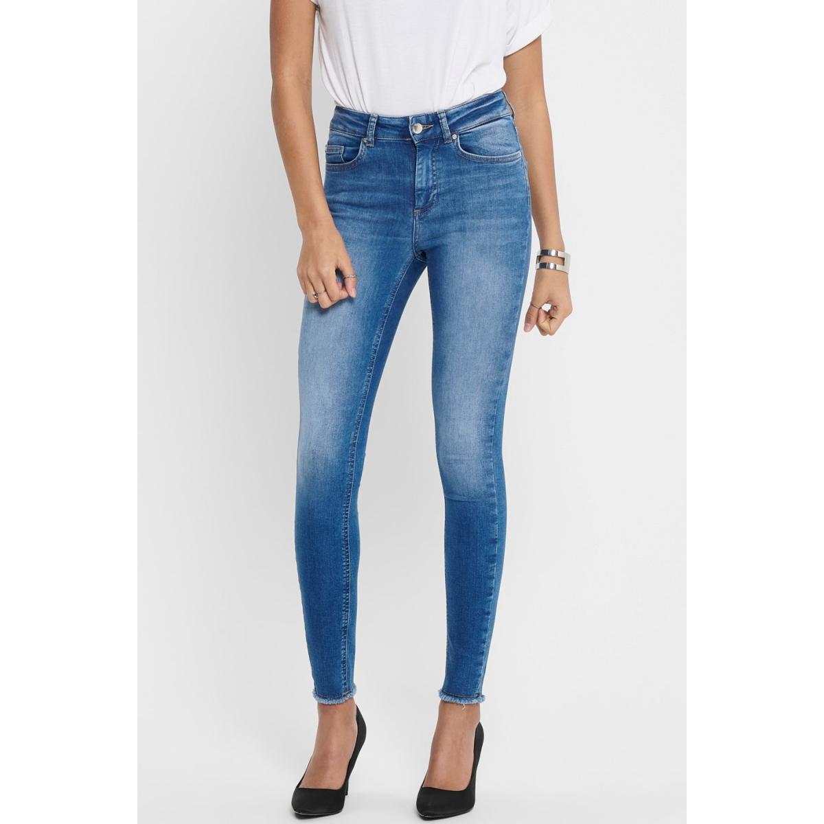 onlblush life midsk ankraw rea12187 15195681 only jeans medium blue denim