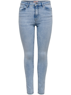 Only Jeans ONLPAOLA LIFE HW SKINNY ANK AZG871 15198010 Light Blue Denim