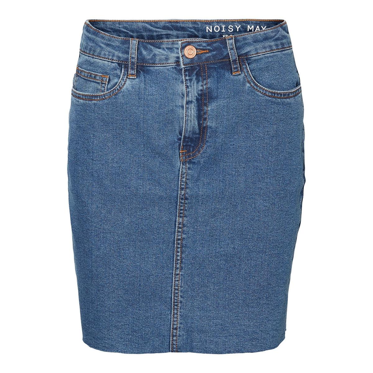 nmbe callie hw short skirt jt086mb 27010906 noisy may rok medium blue denim