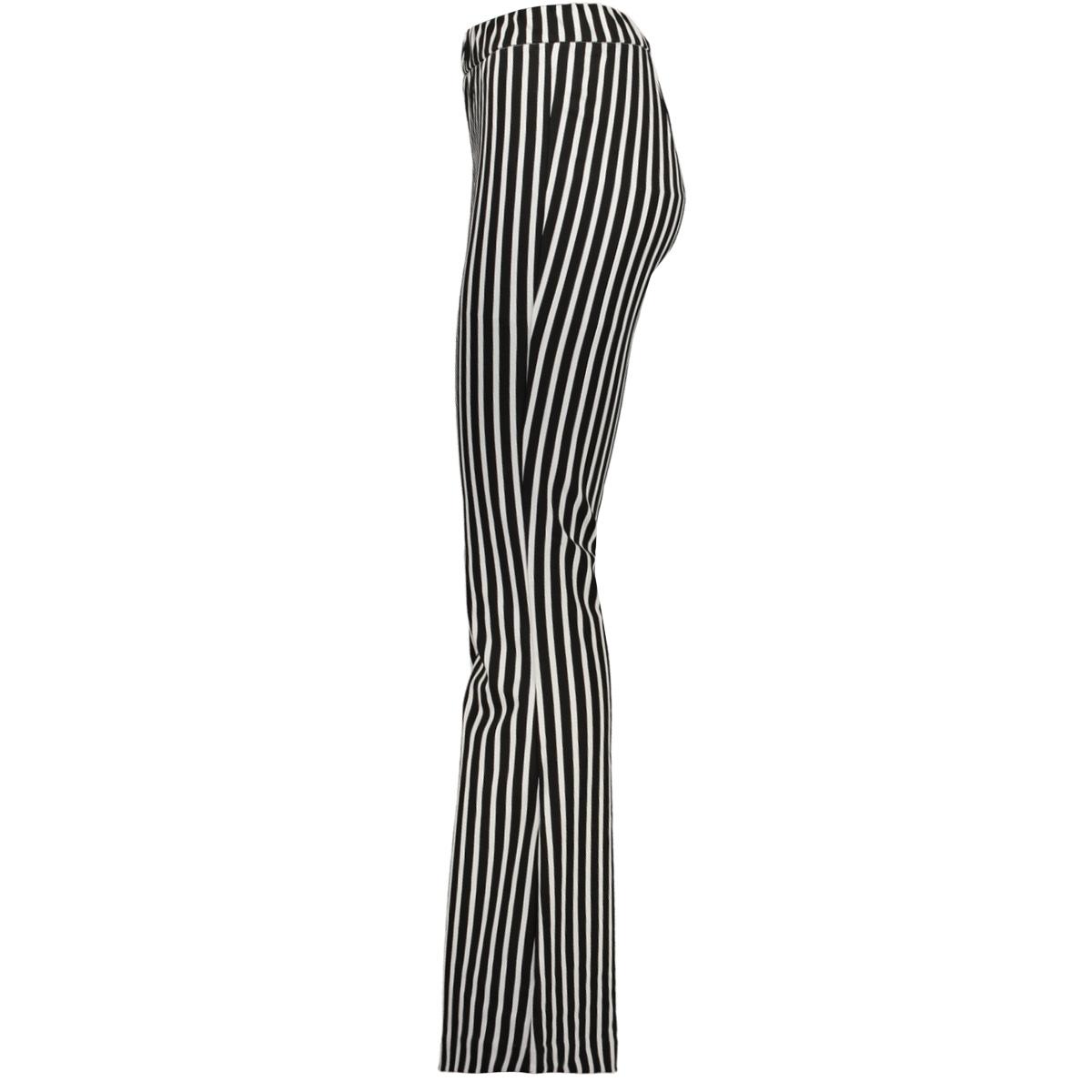 vmkamma nw flared jersey print pant 10221559 vero moda broek black/white